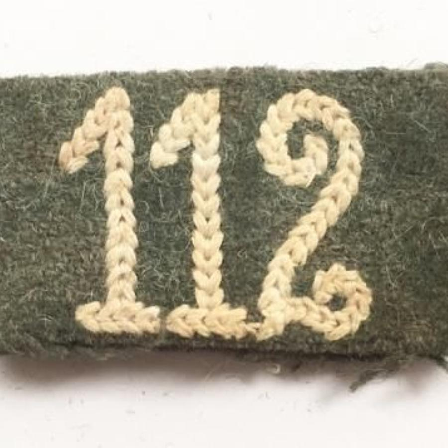 WW2 German Army Slip on Regimental Number 112