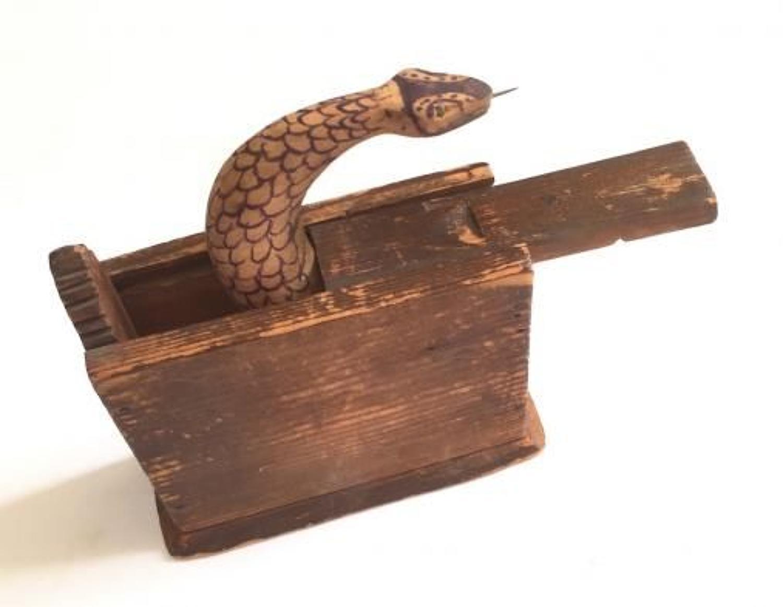 Boer War Prisoner of War Snake Trick Box.