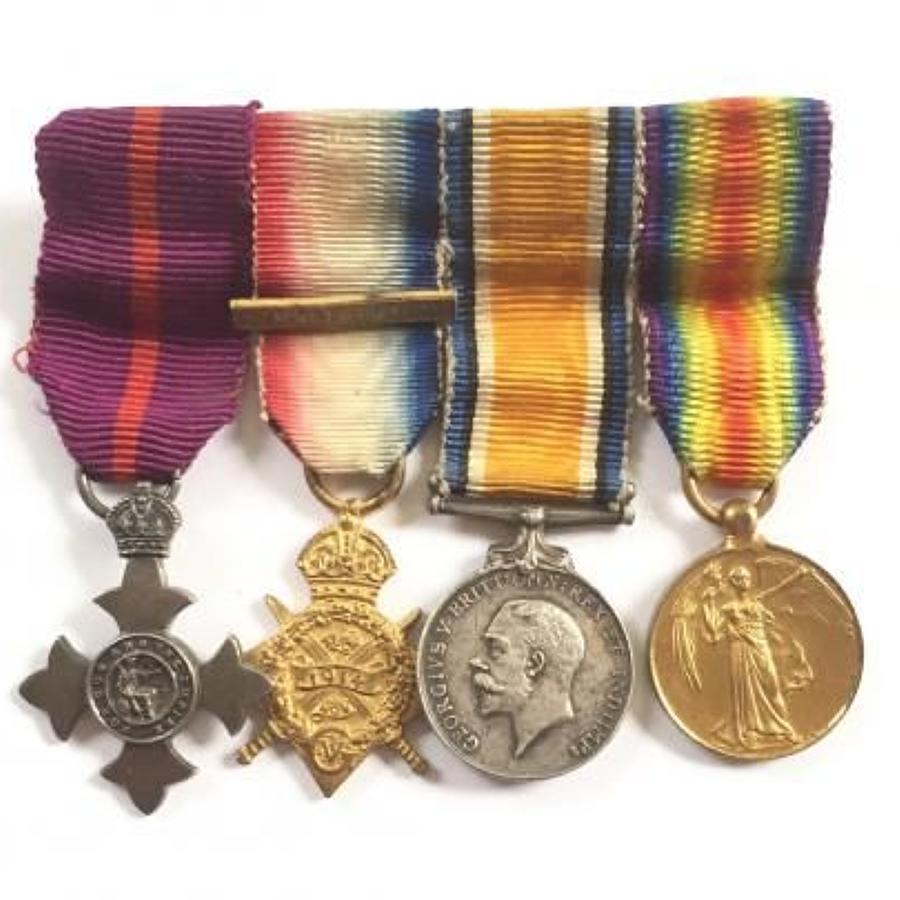 OBE 1914 Star Trio Miniature Medal Group.