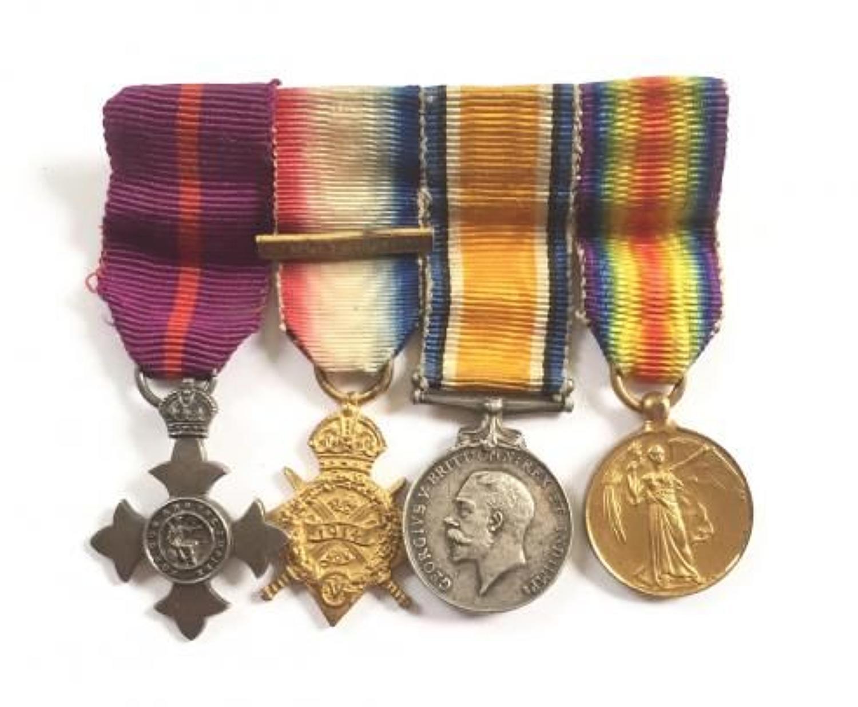 OBE 1914 Star Trio Miniature Medal Group.