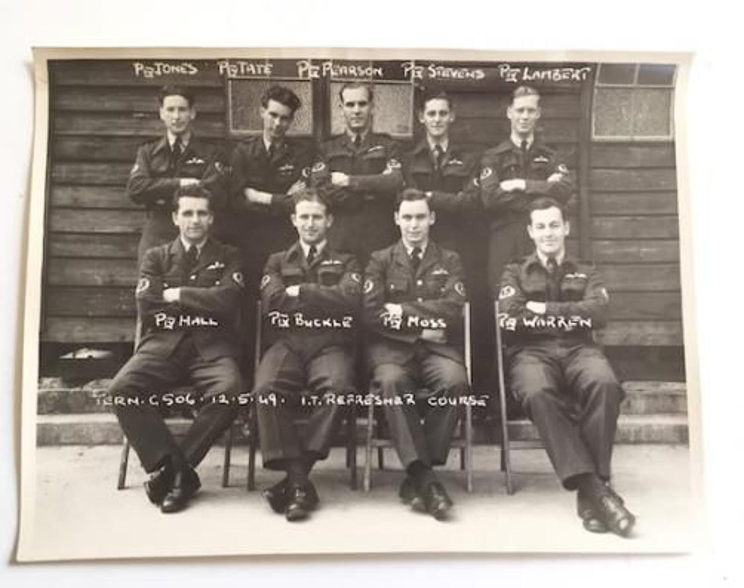 RAF Rare Aircrew 1947-1953 Group Photograph.