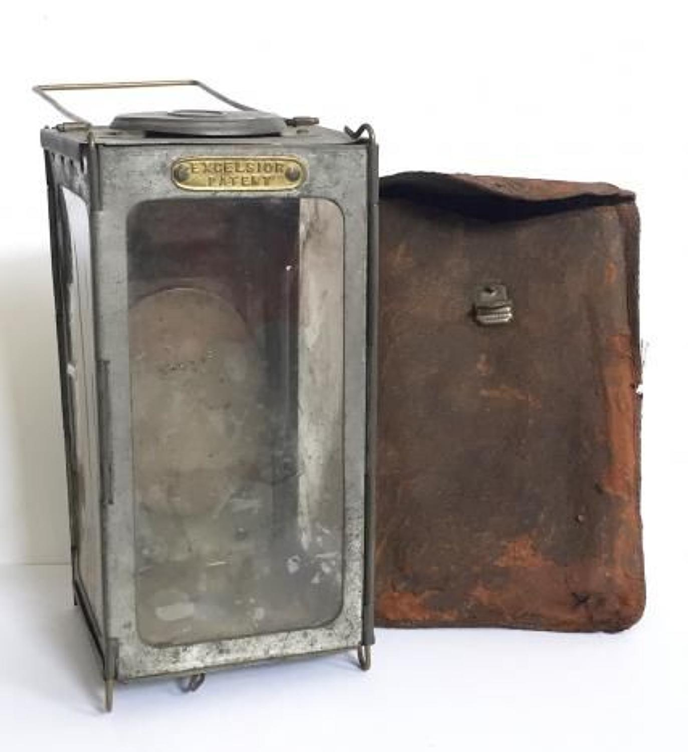 WW1 Period British Army Officer's Private Purchase Folding Lantern.
