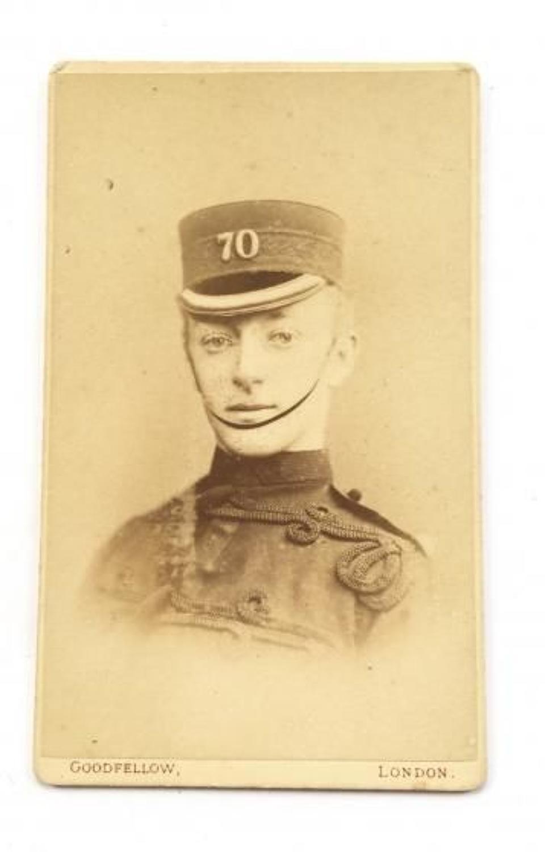 70th (Surrey) Regiment of Food Victorian Carte-de-Visite Photograph.