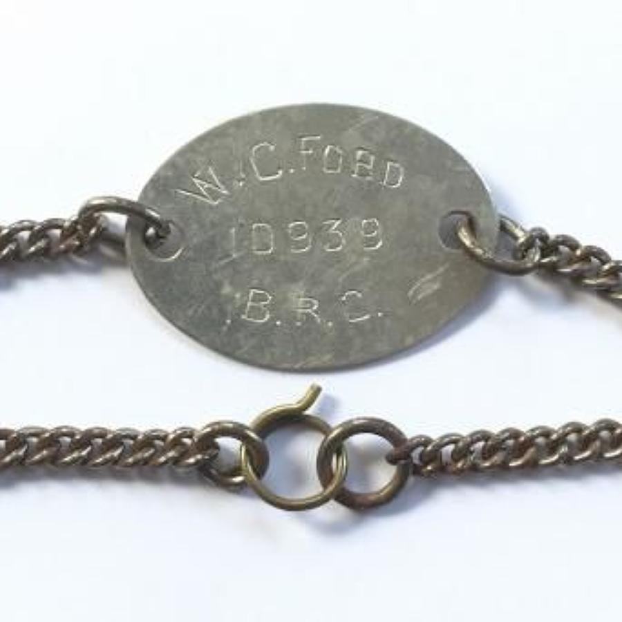 WW1 British Red Cross Drivers ID Bracelet.