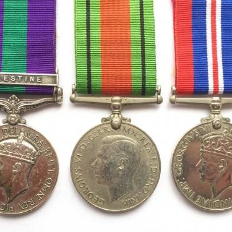 WW2 Royal Army Service Corps General Service Medal Group of Three.