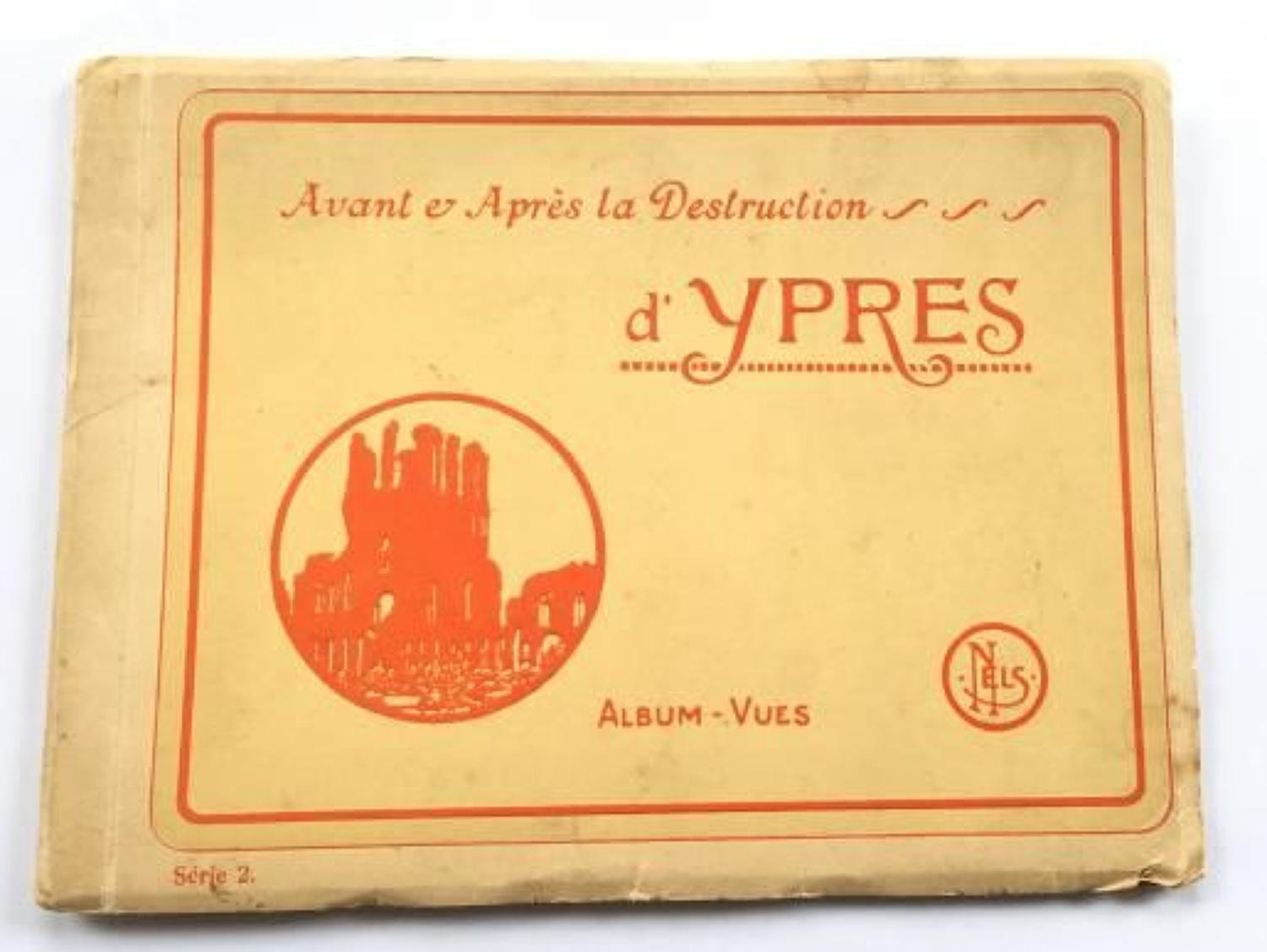 WW1 Interest Ypres Postcard Booklet.