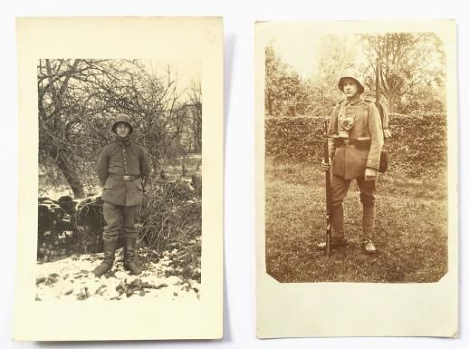WW1 Imperial German Late War Photographs of Soldiers.