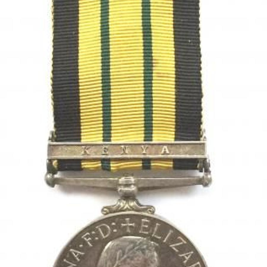Glosters Africa General Service Medal, Clasp Kenya.
