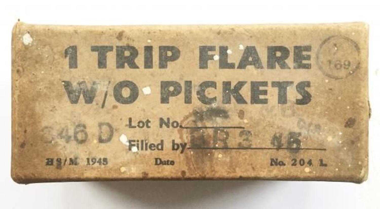 WW2 British Army Trip Flare Original Cardboard Box.