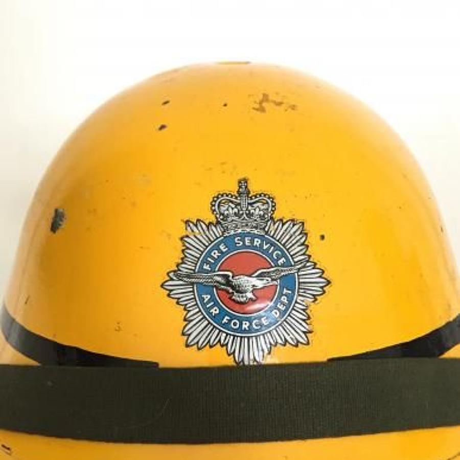 RAF Royal Air Force Fire Service Helmet.