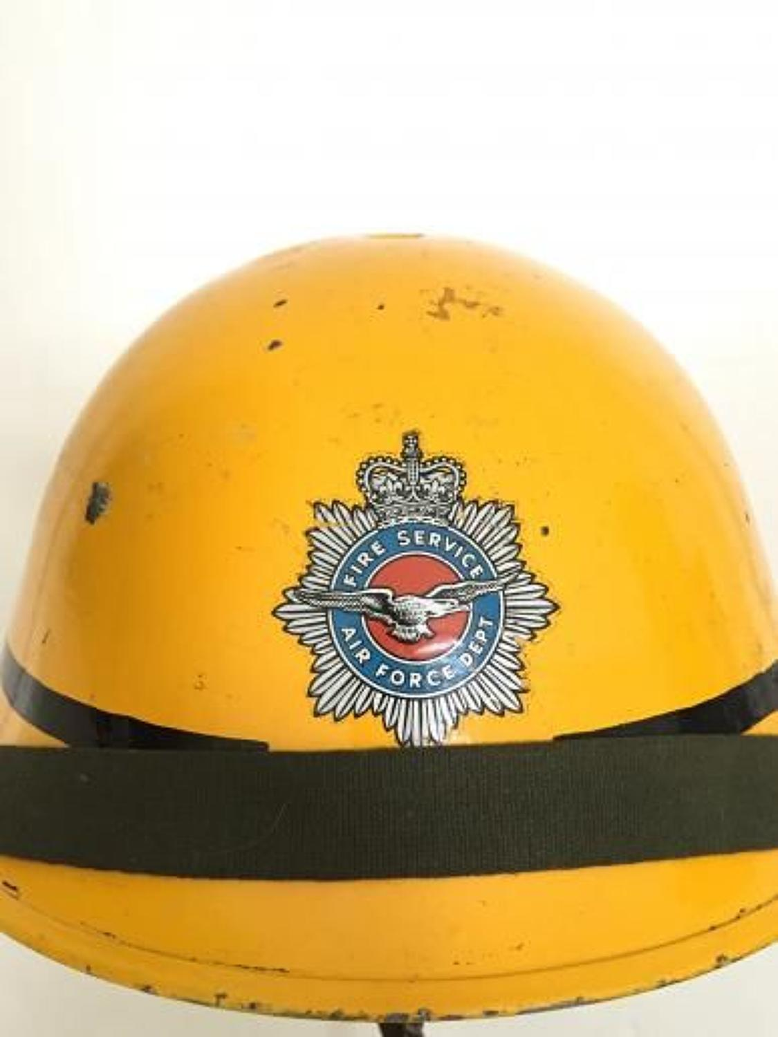 RAF Royal Air Force Fire Service Helmet.