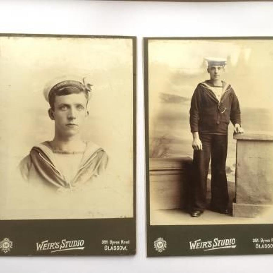 Victorian / Edwardian Royal Navy Carte-de-Visite Photographs.
