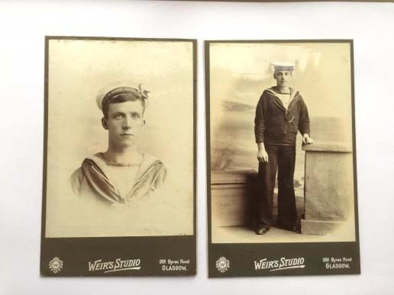 Victorian / Edwardian Royal Navy Carte-de-Visite Photographs.
