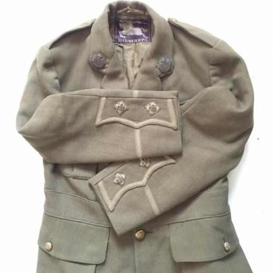 WW1 Army Service Corps Officer's Field Use Cuff Rank Tunic.