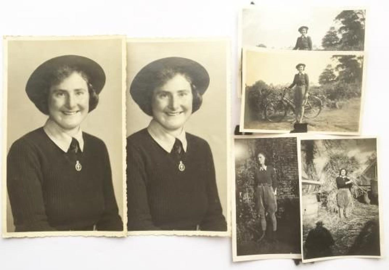 WW2 WLA Women's Land Army Photographs.