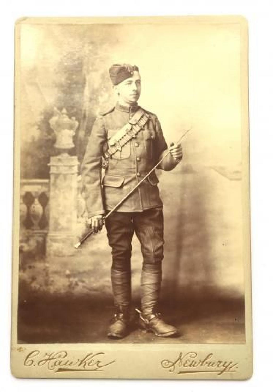 Boer War Berkshire Imperial Yeomanry Newbury Carte-de-Visite Photograp