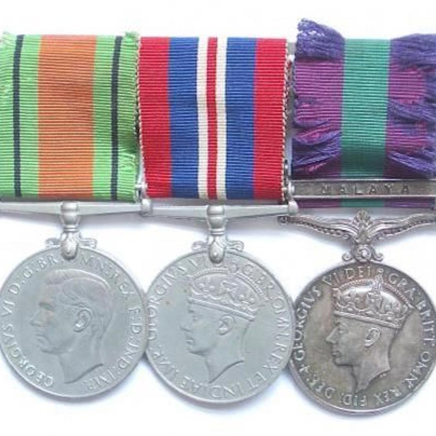 RAF WW2 / Malaya Emergency Officers Group of Medals.
