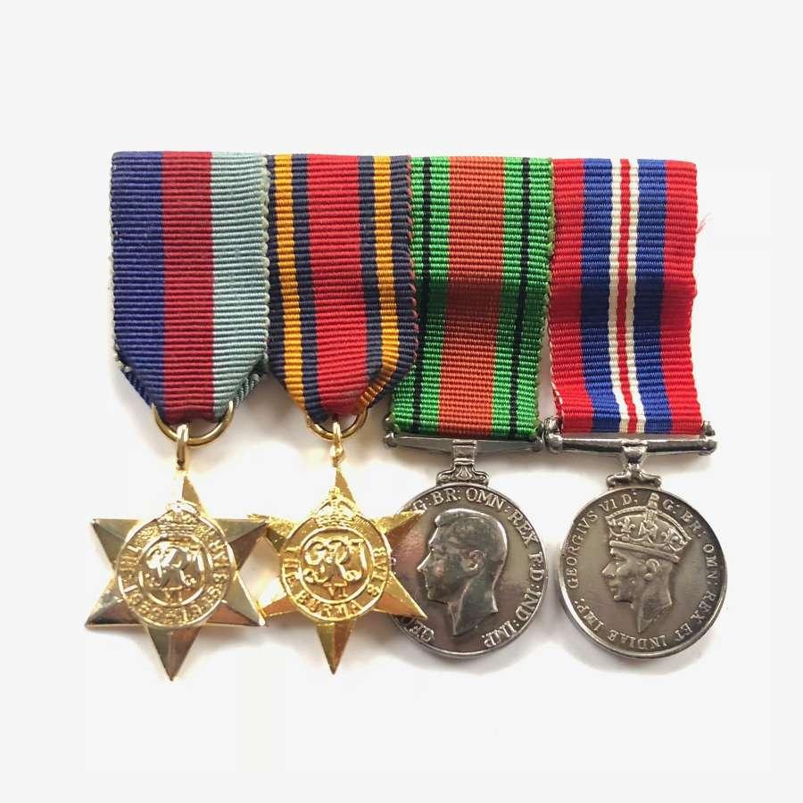 WW2 Burma Star Miniature Medal Group.