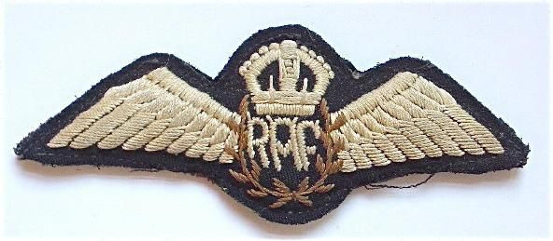 RAF Inter War North West Frontier India RAF Pilots Wings.