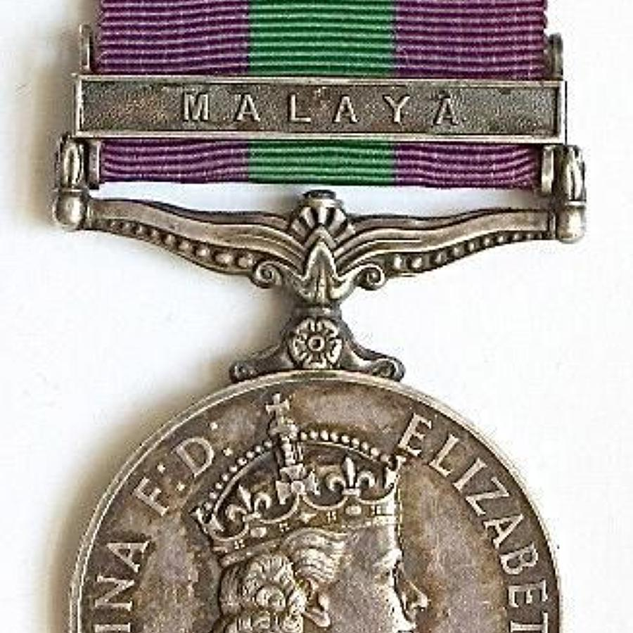 Royal Army Service Corps General Service Medal Malaya Clasp.