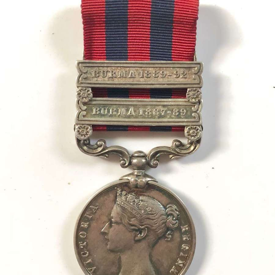 4th Bn Rifle Brigade 1854 India General Service Medal, Two clasps