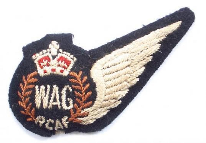 WW2 Royal Canadian Arir Force Wireless Air Gunner (W.AG) brevet.