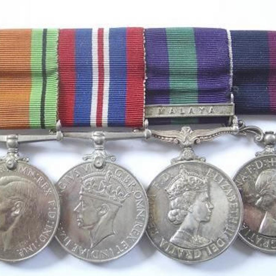 RAF WW2 Malayan Emergency Group of Four Medals.