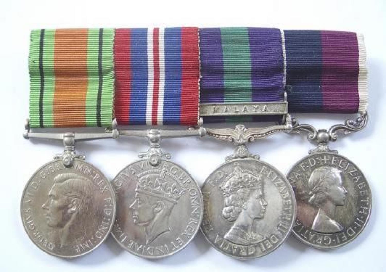 RAF WW2 Malayan Emergency Group of Four Medals.