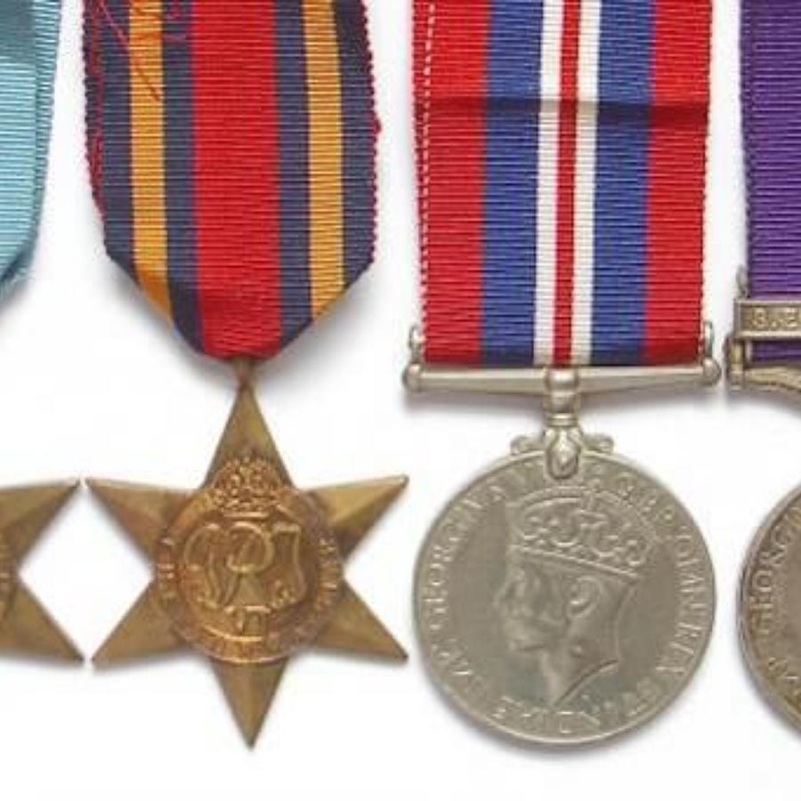 WW2 RAF General Service Medal Clasp (S.E. Asia 1945-46) Group of Medal