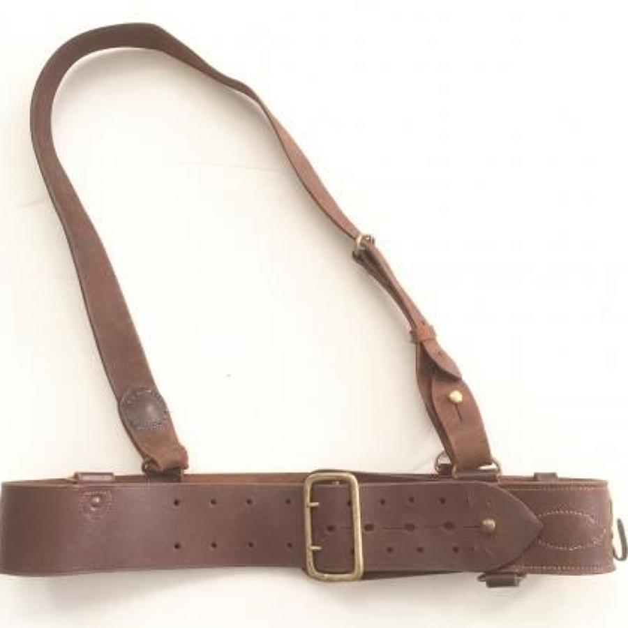 WW2 Period British Officer's Sam Brown Belt and Brace strap.