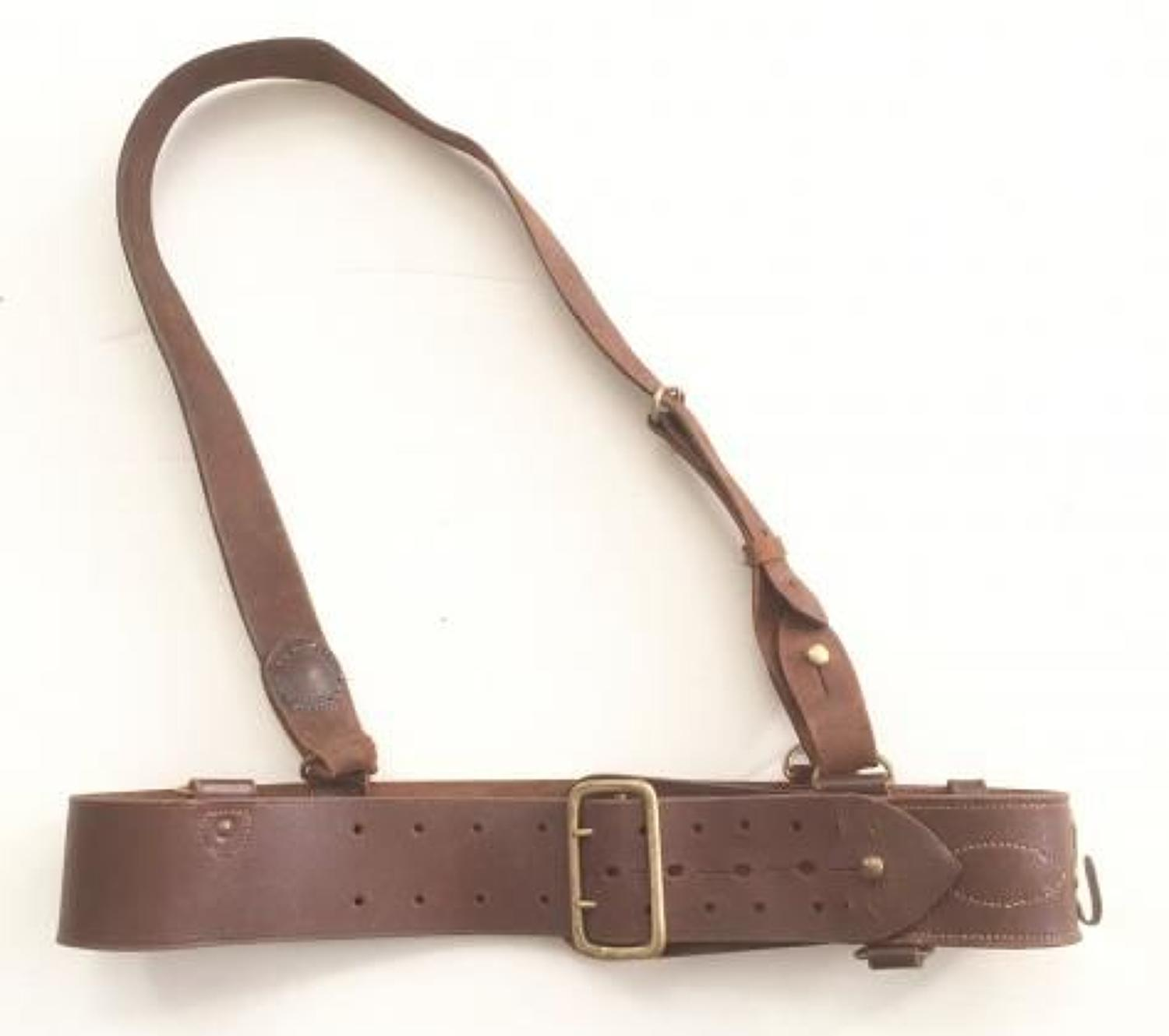 WW2 Period British Officer's Sam Brown Belt and Brace strap.