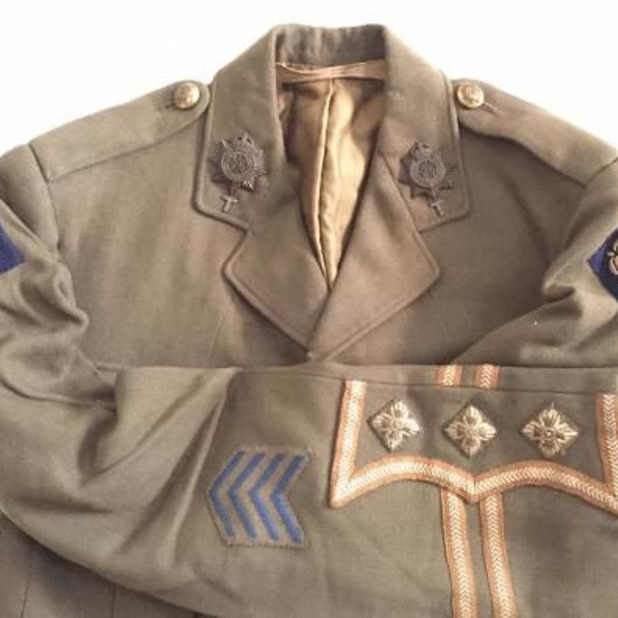 WW1 Army Service Corps ASC Officer's 49th Division Cuff Rank Tunic.