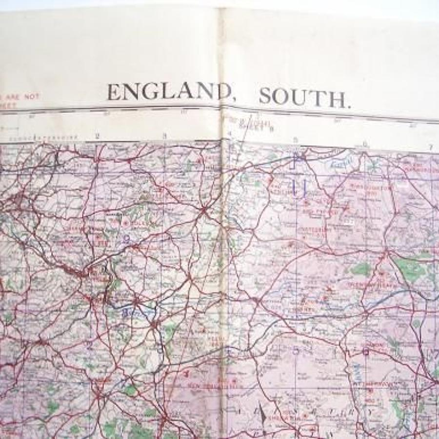 WW2 1943 Military Map of South England.