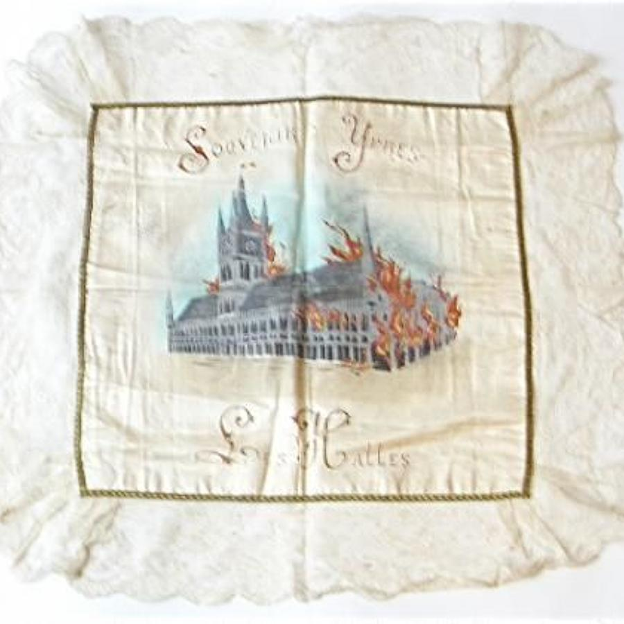 WW1 Patriotic Ypres Silk Cushion.