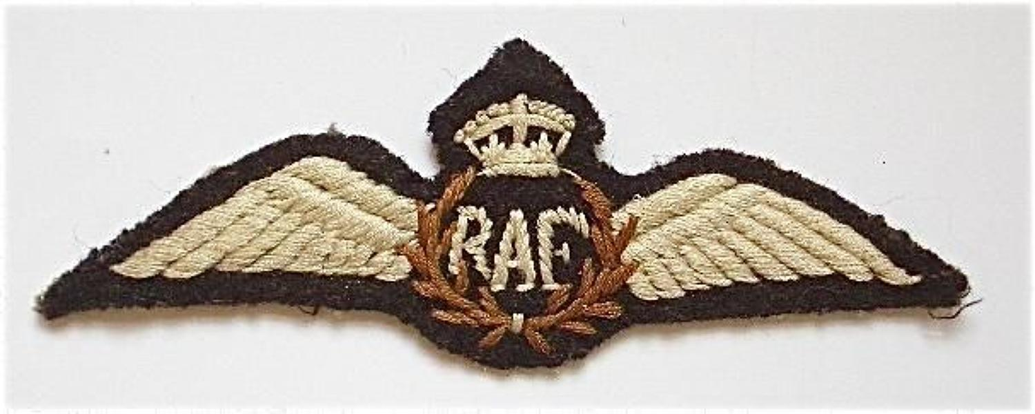 Inter War / WW2 RAF Indian Middle East / Theatre Made Pilots Wings.