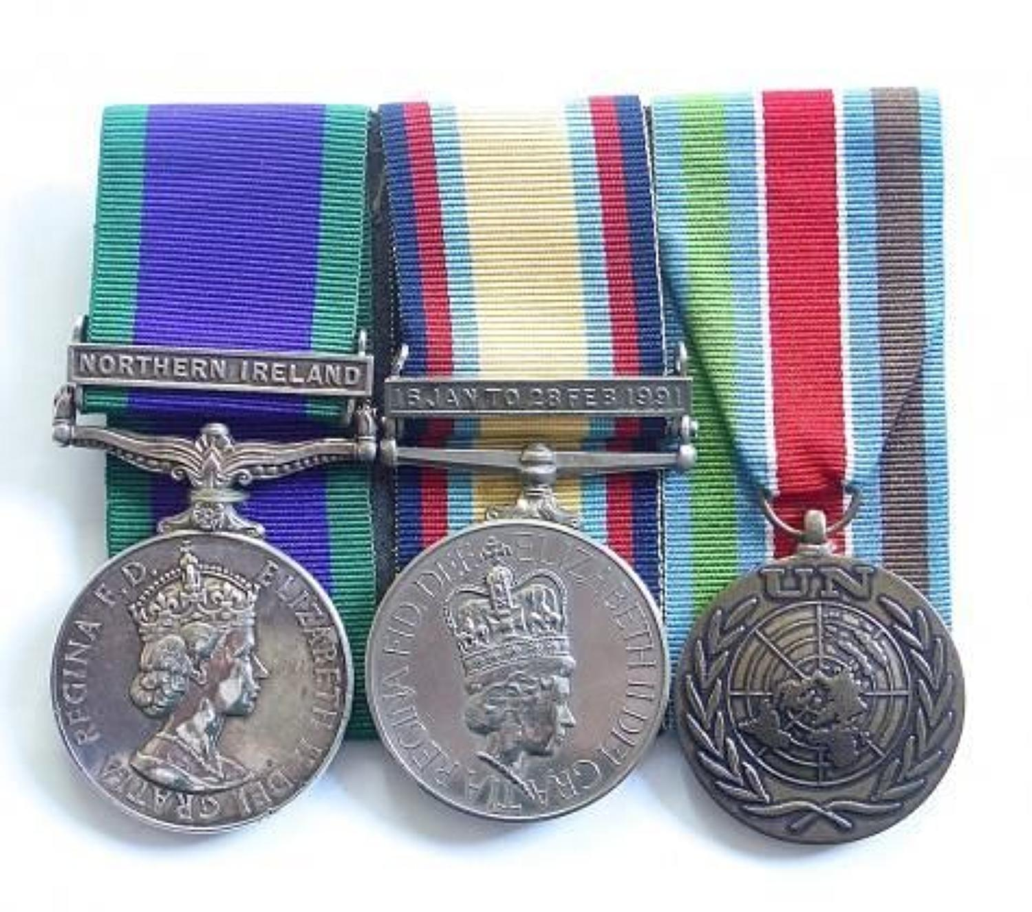 Royal Highland Fusiliers Campaign Service Medal, Gulf War Group of Thr