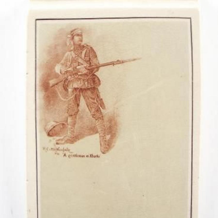 Boer War Gentleman in Khaki Desk Memoranda Block.