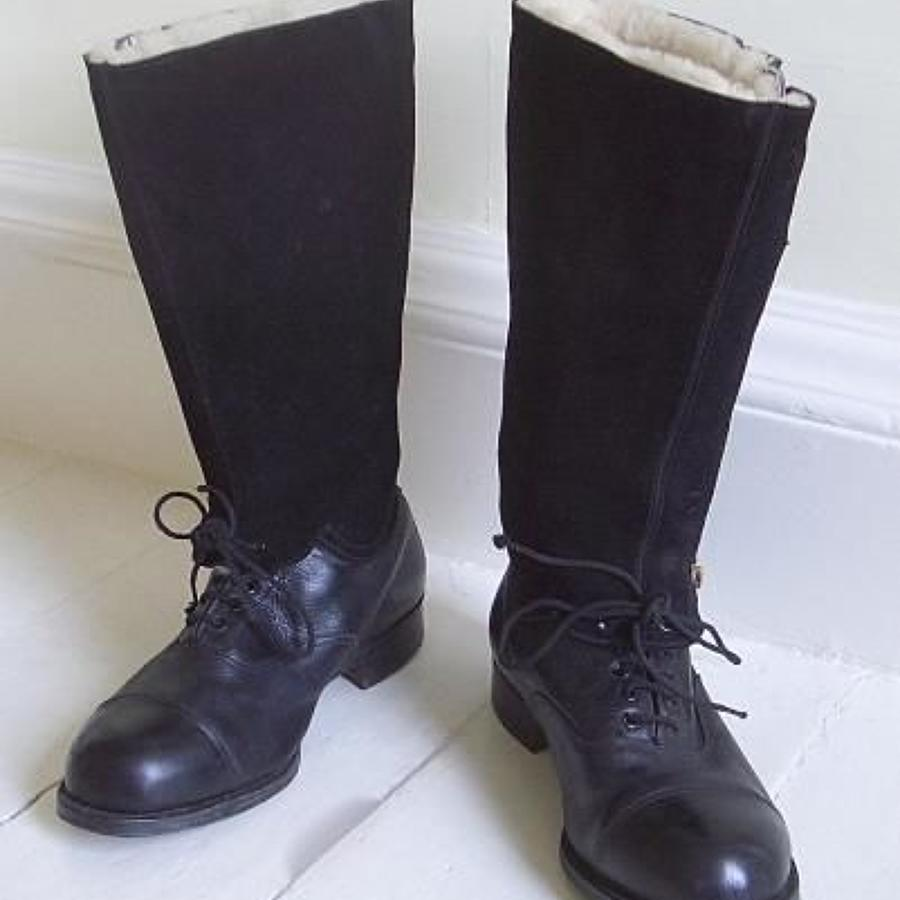 WW2 RAF 1943 Escape Pattern Aircrew Flying Boots
