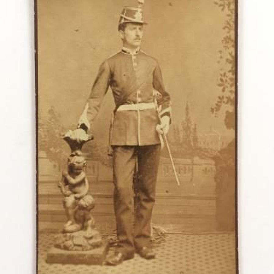 Victorian Irish Regiment Officer Carte-de-Visite.