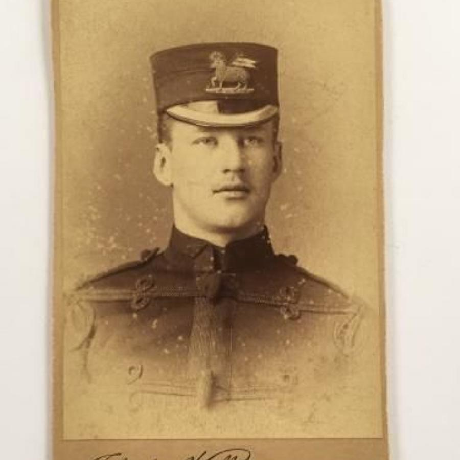 Victorian Queen's Regiment Officer Carte-de-Visite.