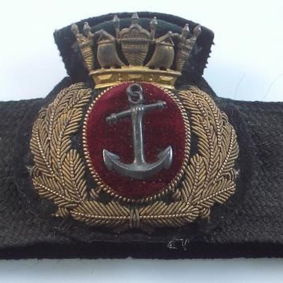 WW1 Period British Merchant Navy Officers Cap Badge & Band.