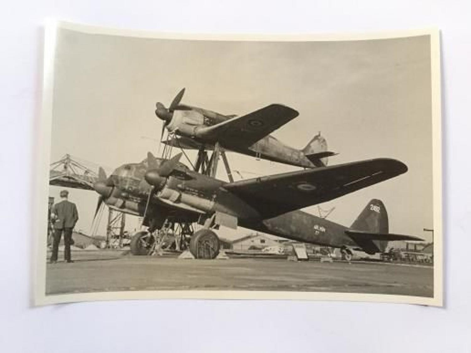 RAF Official Photograph of Experimental German Aircraft.