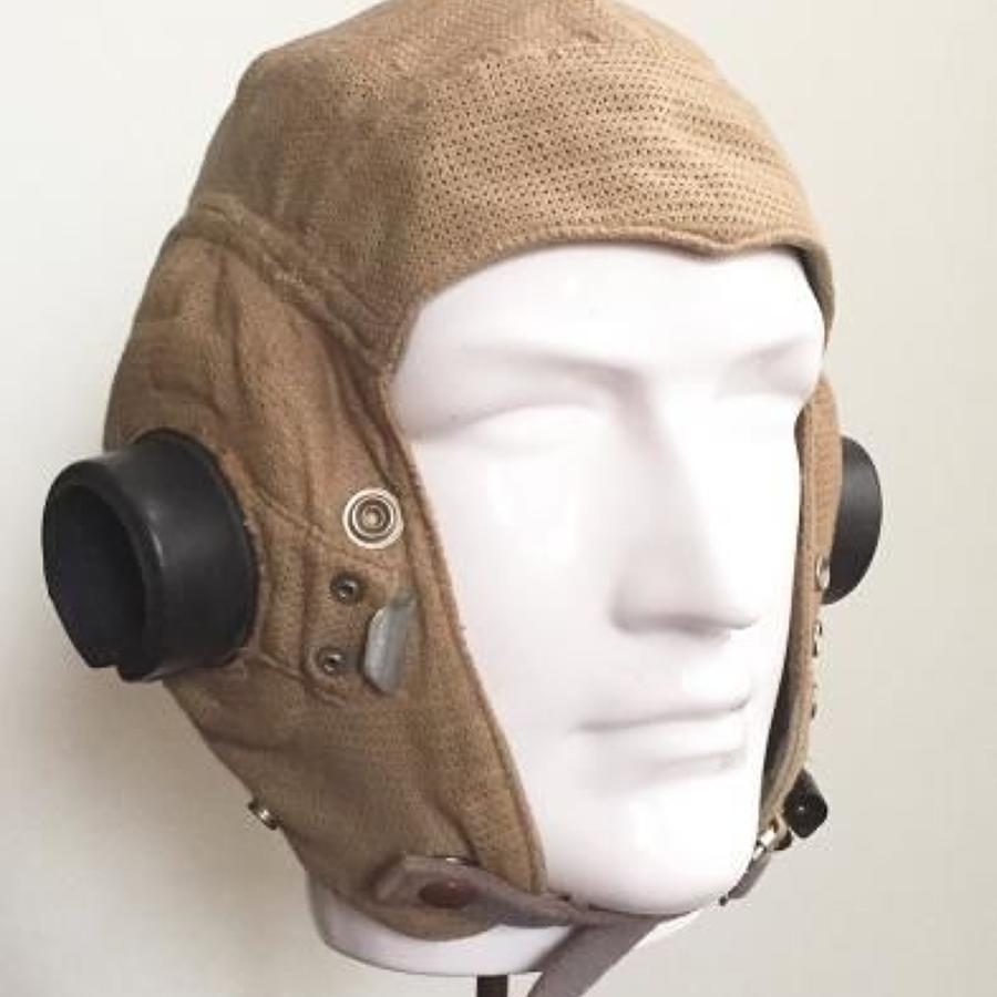 WW2 RAF E Type Airtex Flying Helmet.