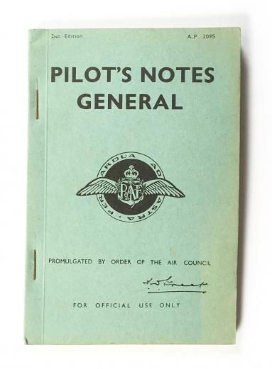 WW2 1943 Issue Pilots Notes General.