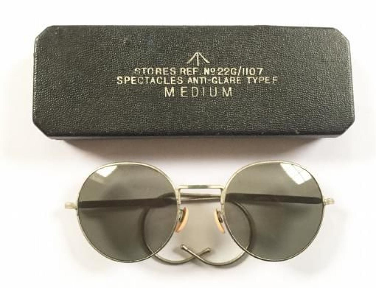 WW2 Pattern Cold War Period RAF Aircrew Flying Spectacles Sun Glasses.