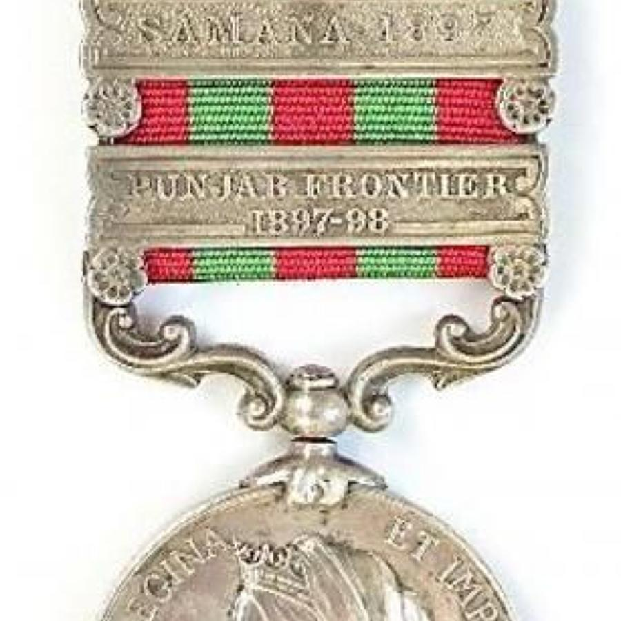 Royal Artillery three clasp 1895 India General Service Medal