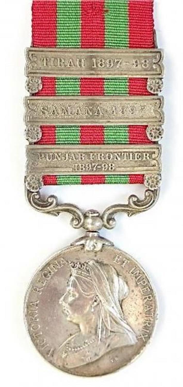 Royal Artillery three clasp 1895 India General Service Medal