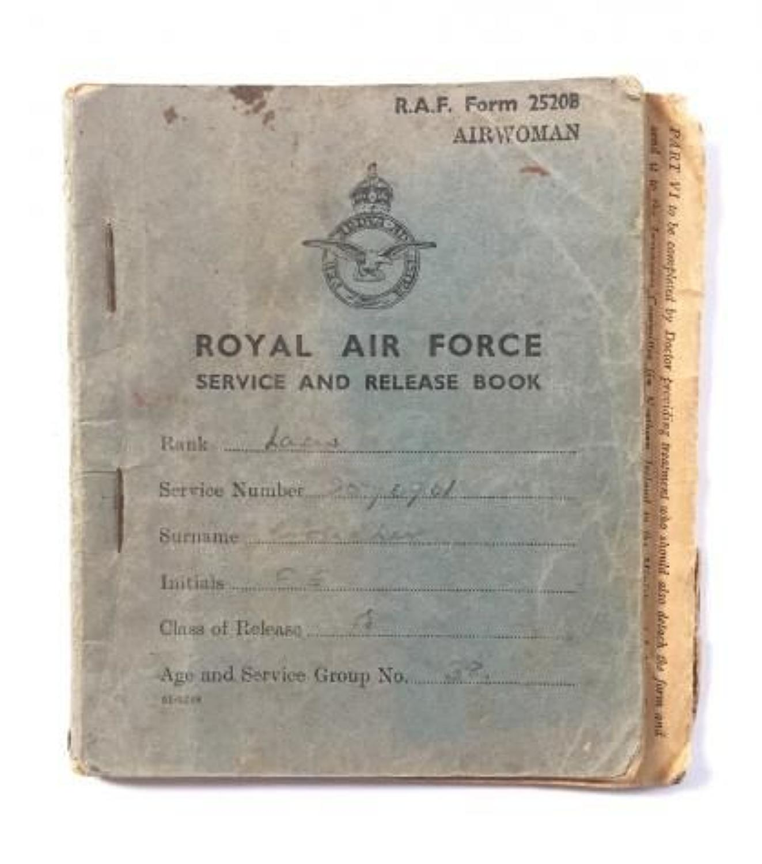 WW2 WAAF Service & Release Book.