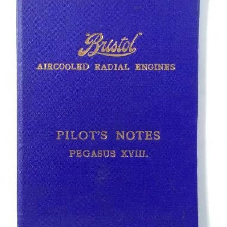 WW2 Pilot Notes Bristol Pegasus XVIII Engines.