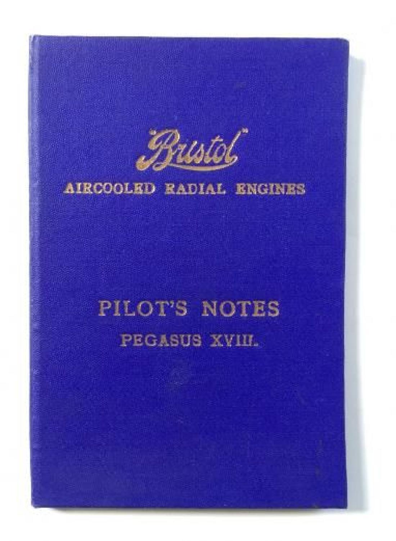WW2 Pilot Notes Bristol Pegasus XVIII Engines.